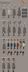 Bioshock Infinite - Young Liz costume development by shoomlah