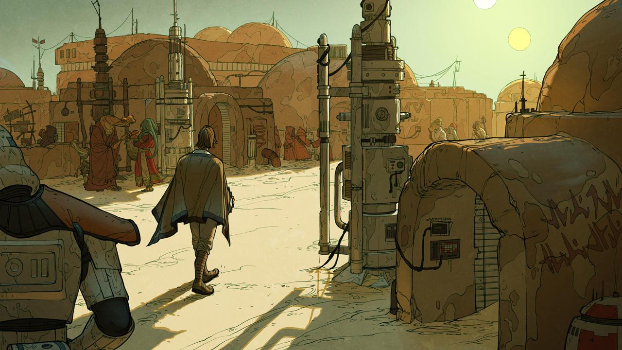 Mos Eisley Morning by shoomlah