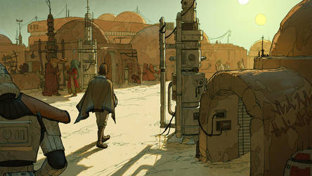 Mos Eisley Morning by shoomlah
