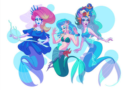 Drag Daughters of Triton by shoomlah