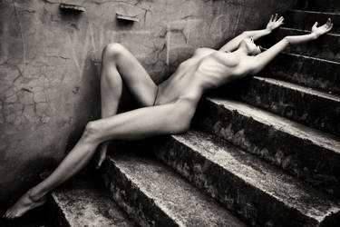 Maria on the steps by Arnie01