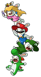The Mario Rabbids by LuigiYoshi2210