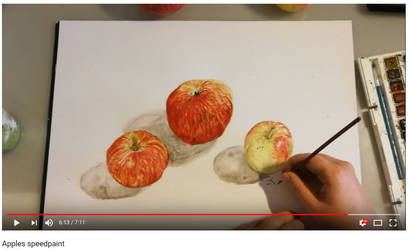 Apples YouTube video speedpaint by katr14