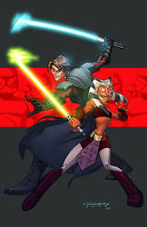 Clone Wars::Anakin and Ahsoka by E-Mann