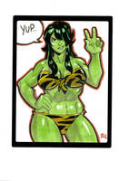 Heroine  She Hulk Sketch by E-Mann