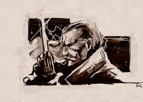 Revolver Ocelot: MGS Art Studio by E-Mann