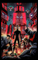 BATMAN BEYOND UNIVERSE #8 by E-Mann