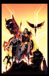BATMAN BEYOND UNIVERSE #10 by E-Mann