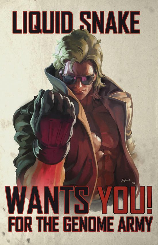 Liquid Snake Wants You by E-Mann