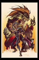 Powerman Iron Fist 5 Variant Cover by E-Mann