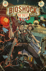 Bioshock Infinite  Vintage Comic Cover by E-Mann