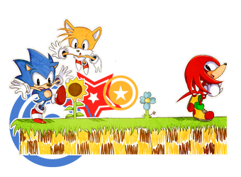 Sonic, Tails and Knuckles by Ipun