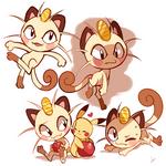 Meowth Doodles by Ipun