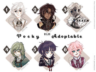 [OPEN] [SETPRICE] Pocky day special adoptables by Kornderia
