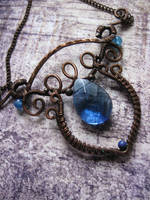 Enchanted Wire Wrapped Copper Necklace by Lirimaer86