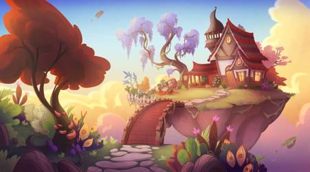 The Sky Witch's Cottage by al-kem-y