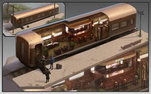 Train restaurant by KrasenMaximov