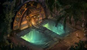Egyptian tomb entrance by KrasenMaximov