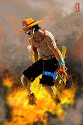 --Fire Ace-- by yvanquinet