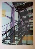 Stairs of Printmaking Department by kayhankaan