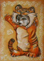 Chinese Zodiac Kitty - TIGER by BlackAngel-Diana