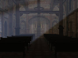 Church interior by LVairon