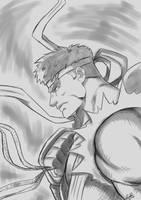 Ryu warm up by Zelmarr