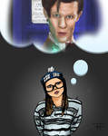Doctor Who Nerd Fan Girl Kelli from Blimey Cow by IronWarrior777