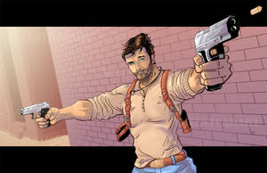Nate Drake'n Comic Book Style! by IronWarrior777