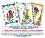 Four Seasons Activity Book Series by moondustowl