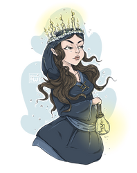 Imbolc - Brighid Celtic Goddess by moondustowl