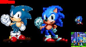 Sonic Mania Pose Sprite by facundogomez