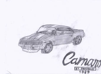 1969 Camaro Custom SS 502-sketch by cboxninja1994