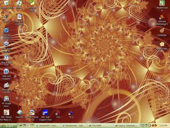 My current desktop by FireLilyFractals