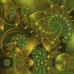 Spiral Pond Life by FireLilyFractals