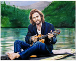 Eddie Vedder - Colored Pencil Drawing by secrets-of-the-pen