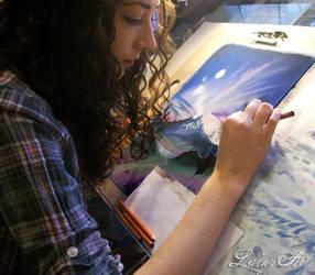 Pastel Landscape - WIP 2 by secrets-of-the-pen