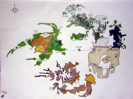 Ffviii World Map By Yoshisghost On Deviantart