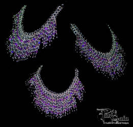 Purple Silver Bead Cascade by HasturCTS