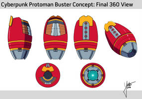 Protoman Buster concept for 3D modeling by YutoIsoya