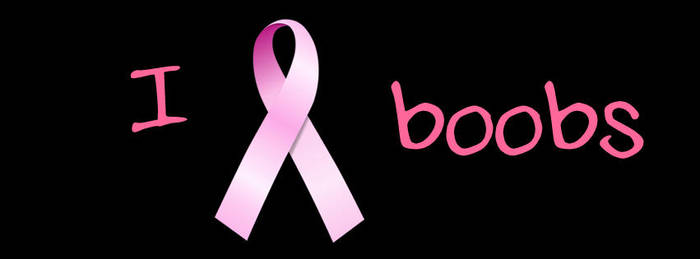 i love boobs pink ribbon 3 facebook cover by infopablo00