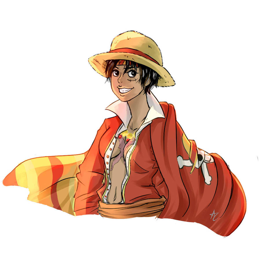 Luffy Genderberder by AntheaVongola