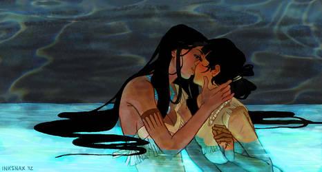 Nakoma x Pocahontas: Canoe by inksnax