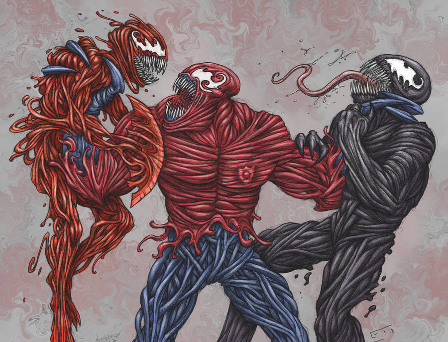Toxin vs. Carnage and Venom by ECTmonster on DeviantArt