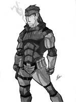 Solid Snake - Metal Gear Solid by EckoSlime