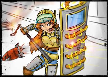 Leona Riot/Steel legion mashup skin by G-creator