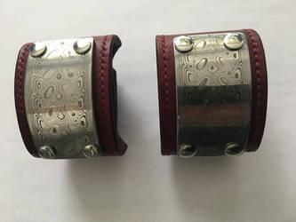 Damascus steel bracelets by TrueFraxxx