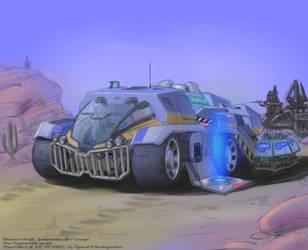 PlanetSide 2 Advanced Mobile Station Mk.3 (NC) by hansime