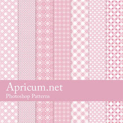 Pink Photoshop Patterns by apricum