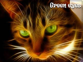 Green eyes by NatsuMi69Kuroi